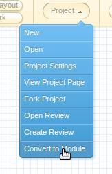 Converting a design to a module