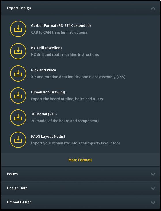 Screenshot of project downloads