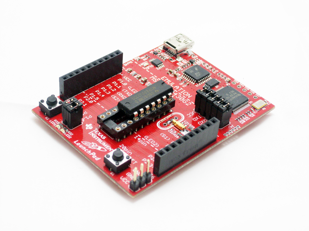 The Texas Instruments launchpad development board