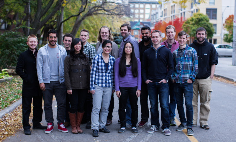 Group photo of the Upverter team taken in October 2014