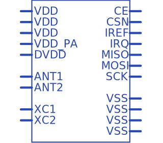 Nordic Semiconductor NRF24L01P-MODULE-SMA | Upverter