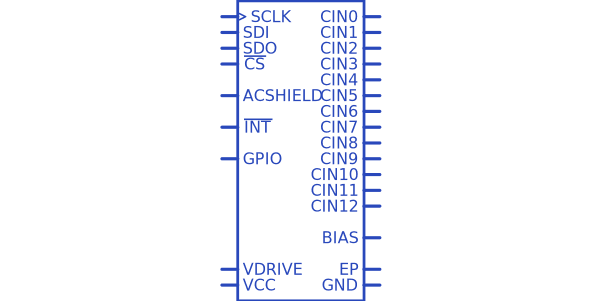 Analog Devices AD7147WPACPZ-1RL Symbol.