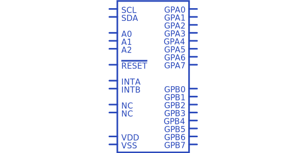 Microchip MCP23017T-E/SO Symbol.
