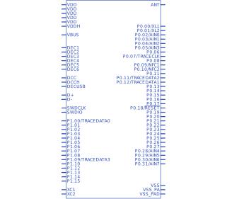Nordic Power nRF52840-QIAA-T | Upverter