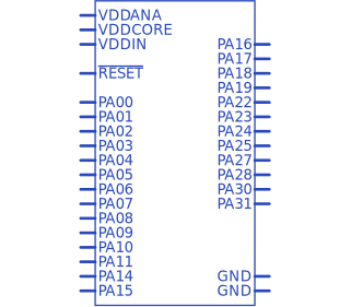 ATSAMD21E17A-AU 4 Pieces Microchip Technology Microcontroller
